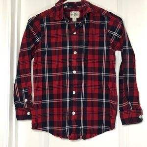 🛍2/$20!Children's Place red plaid button down